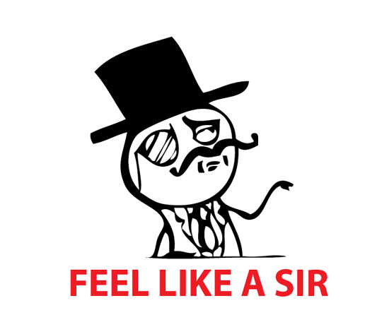 Plantilla de Feel like a sir